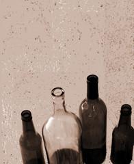 wine and beer bottles