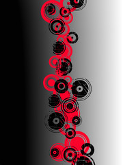 Black and Red Circles