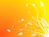 floral stroke warm poster