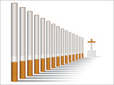 Cigarette alley vector