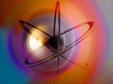 Atom - multicolor poster