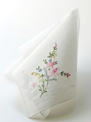 nice handkerchief with embroidery