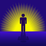 Human Person Emergent in Rays poster