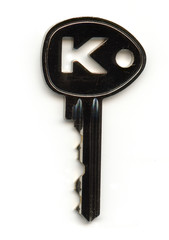 Silver Key With Letter K