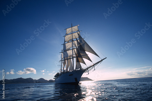 Leinwanddruck Bild Antigua 98 / Star Clipper