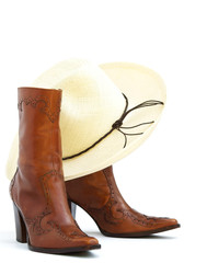 cowgirl boots and hat