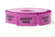 Roll of admit one ticket