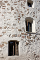 Stone wall of the Round tower
