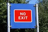 sign. no exit poster