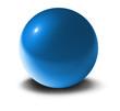 blaue 3d-Kugel