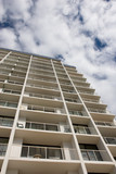 coastal highrise apartments poster