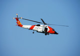 Coast Guard rescue helicopter poster
