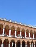 Venetian facade in Padua, verical poster