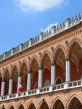 Venetian facade in Padua poster