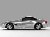 silvery sports car poster