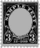 Black Old Postal Mark poster