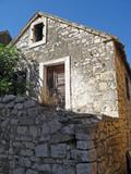 old dalmatian house on krapanj island poster