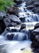 Leinwandbild Motiv Misty waterfall