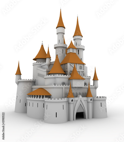Foto op Aluminium Kasteel Medieval palace