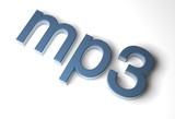 mp3-schrift poster