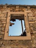 window on ruinous dalmatian house poster