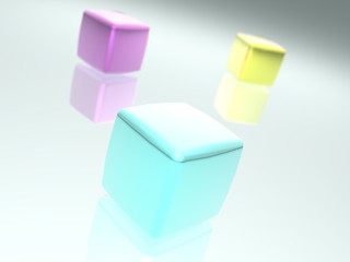 Colorfully cubes