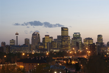 Calgary, Alberta, at sunset