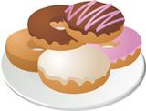 Donuts na tanieri