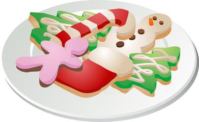 Christmas cookies ona plate