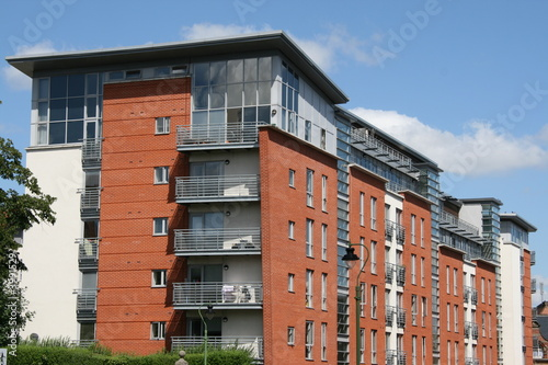 Leinwanddruck Bild apartment building in Nottingham UK