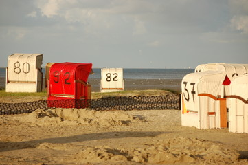 Ausgegrenzter Strandkorb