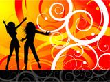 Fototapety Funky dancers