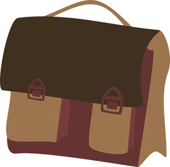 illustration of a school bag