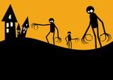 halloween alien zombie poster