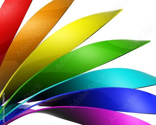 Colour sheet on white background