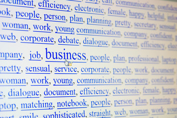 internet keywords screen - business