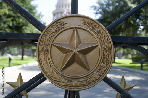In de dag Texas Gates at the Texas State Capitol