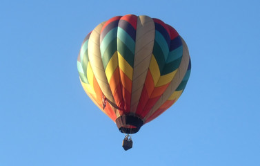 Hot air Balloon floating.