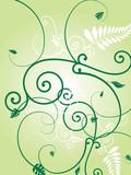 floral green burst poster