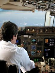 Piloto en Cabina de avion