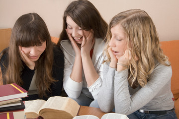 Girls Looking At Books