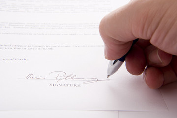 signing a credit