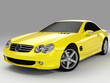 roleta: yellow sports car