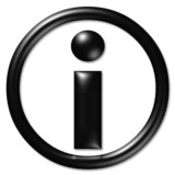 information symbol poster