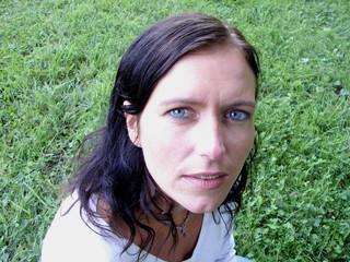 Woman looking at the camera