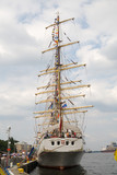 stern of one of the biggest sailing ships poster