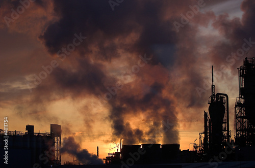 Chemical plant air pollutions t-shirt