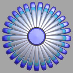 Digitally rendered flower