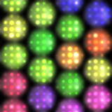 Stage lights in brights colors poster