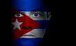 Cuban Flag - Male Face